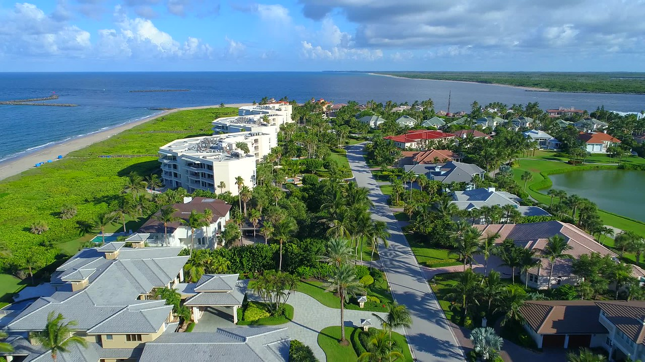 Aerial video North Point Hutchinson Island Florida 4k video
