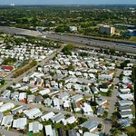 Aerial video of low income housing in Florida