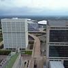 Aerial video Georgia Dome and Mercedes Benz Stadium 4k 60p