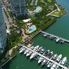 Miami Beach waterfront luxury condos and yachts 4k 60p