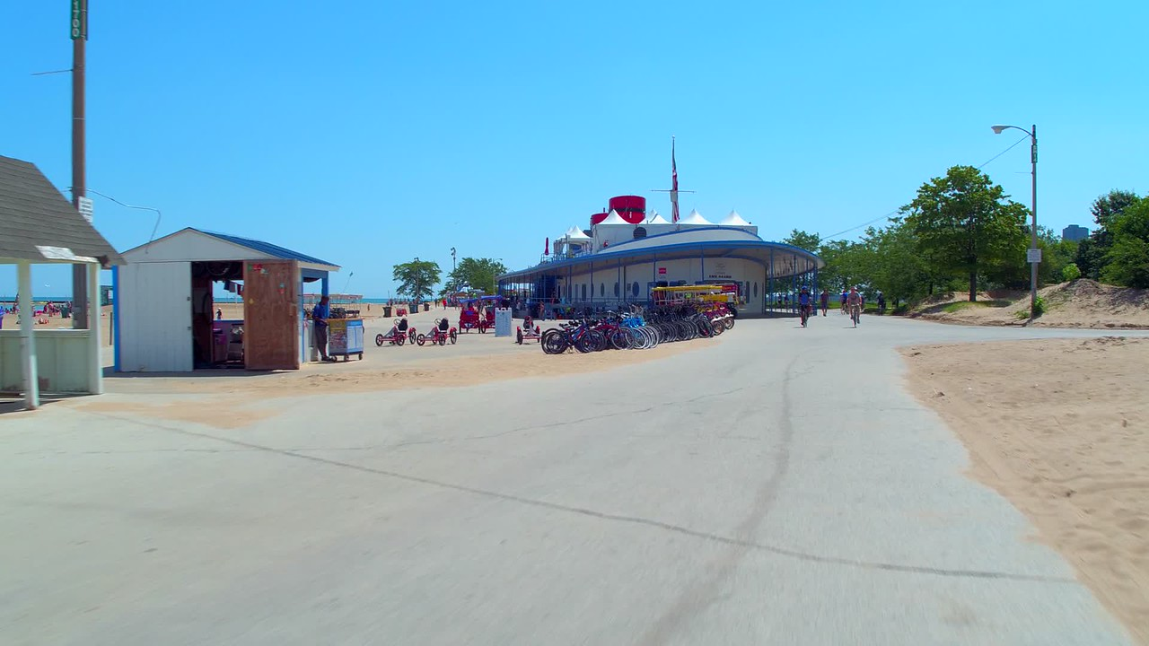 North Avenue Beach Castaways and lifeguard headquarters