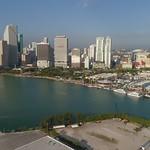 Aerial tour footage Downtown Miami Florida USA 4k