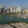 Aerial tour footage Downtown Miami Florida USA 4k
