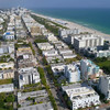 Aerial video Miami Beach south of 5th Street 4k 60p