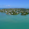 Aerial video waterfront homes in the Keys