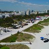 Stock aerial video South Beach gay pride
