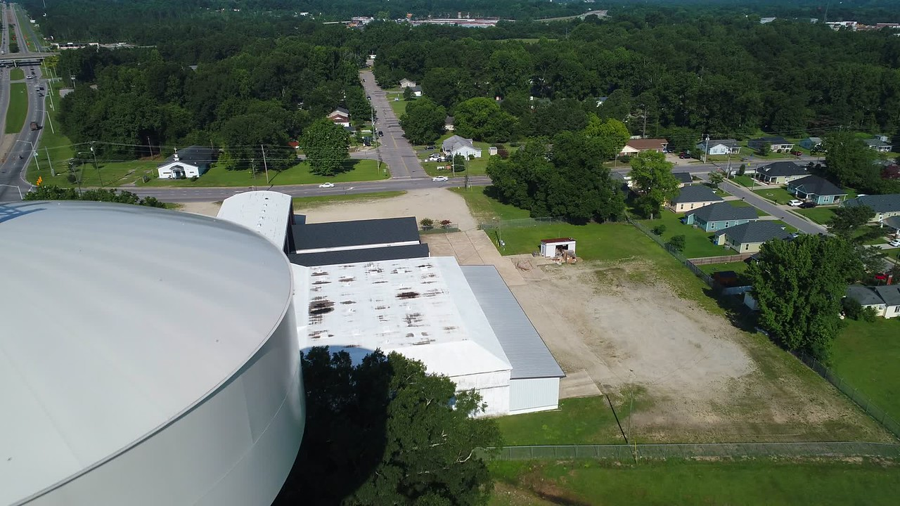 Aerial video Fayetteville North Carolina, USA 4k