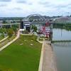 Aerial video Nashville Cumberland Park 4k 60p