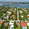Aerial view Bay Harbor Islands Miami Beach 4k 60p