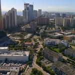 Aerial flyover of Sunny Isles Beach FL