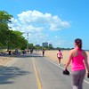 Fitness trail Lakefront Chicago Beach summer
