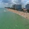 Aerial drone footage Fort Lauderdale spring break