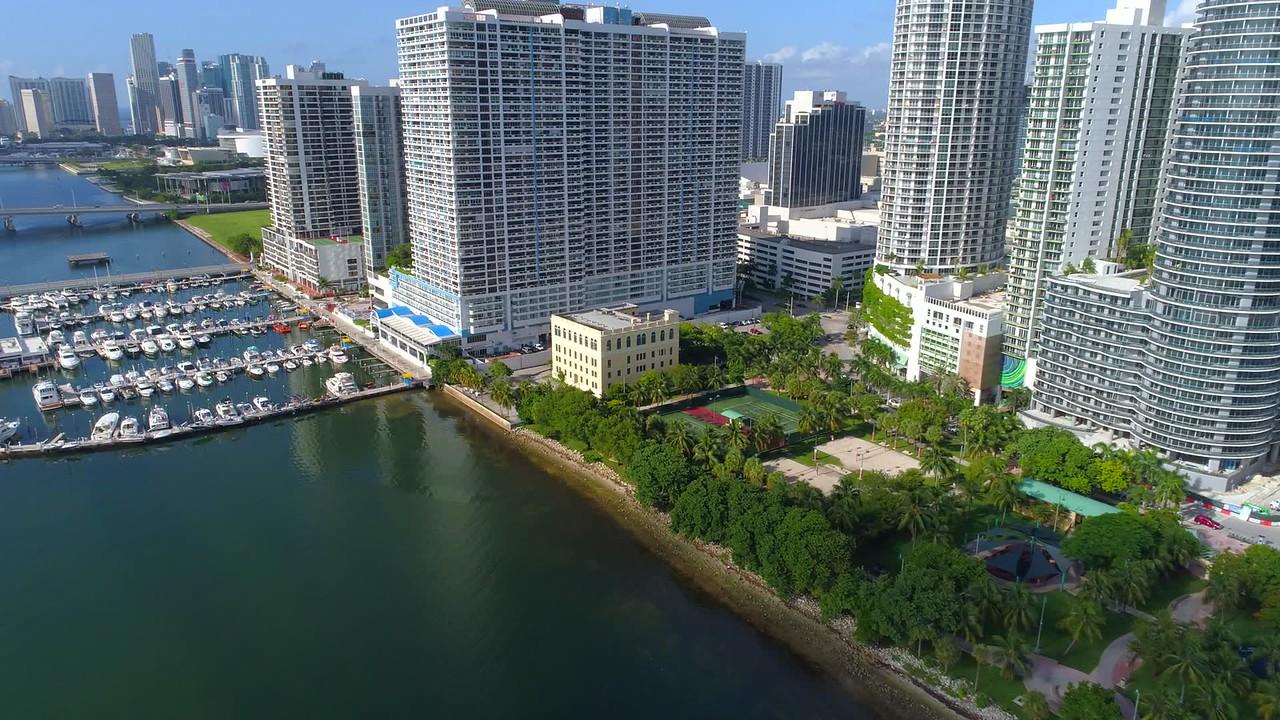 Edgewater Miami aerial shot waterfront scene