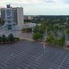 Aerial video Atlanta Georgia Olympic Torch Tower 4k 60p