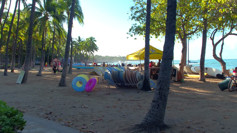 Surf board rentals on Waikiki Beach