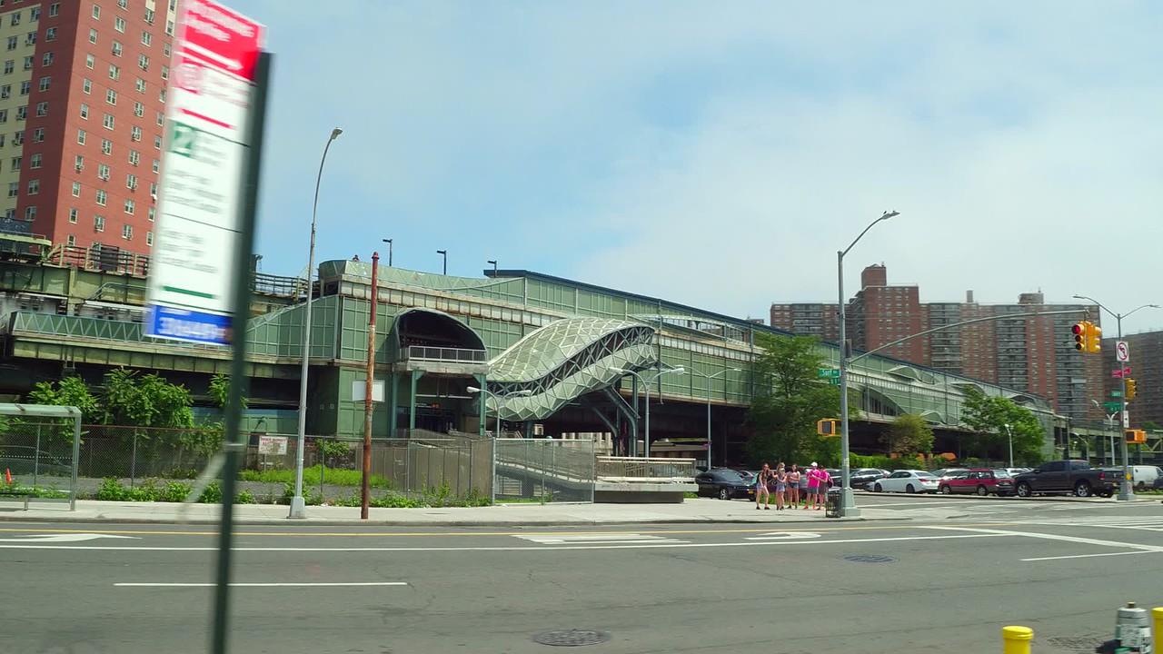 W 8 St  NY Aquarium train station platform New York