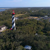Aerial video St Augustine Lighthouse and Museum 4k 60p