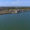 Aerial video St. Augustine Castillo De San Marcos