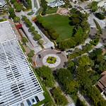 Drone footage Brickell Key aerial