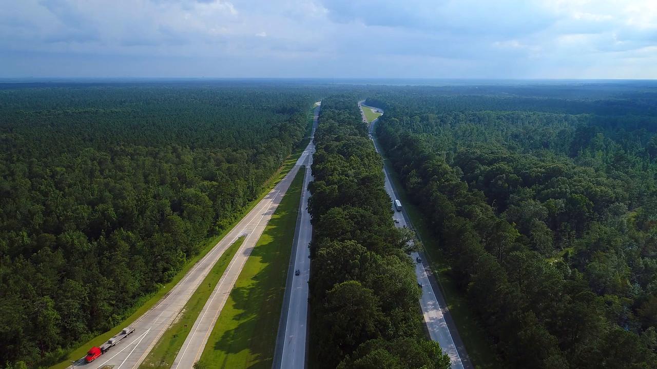 Aerial drone video I95 South Carolina 4k prores