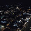 Aerial footage St Augustine at night