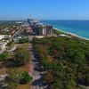 Miami Beach aerial landscape 4k