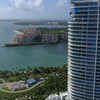 Aerial reveal Fisher Island 4k 60p