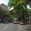 Driving on Kapiolani Boulevard Honolulu Hawaii