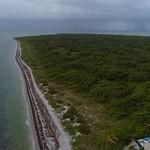 Aerial tour Bill Baggs Cape Florida State Park 4k