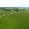 Lateral aerial flight over farm land USA 4k 60p