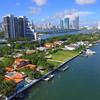 Stock footage of the Venetian Islands Miami Beach