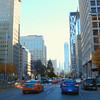 Driving on University Avenue Toronto