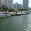 aerial video mega yachts in Miami Beach