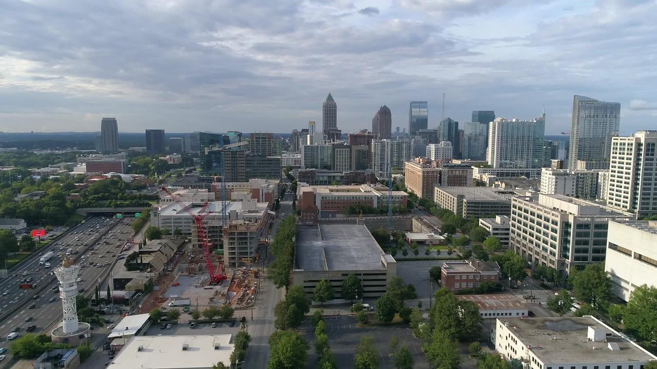 Aerial drone video Midtown Atlanta Georgia 4k 60p