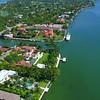 Aerial luxury mansion Miami Beach 4k 24p