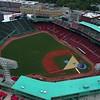 Aerial stock video Fenway Park baseball stadium 4k 60p