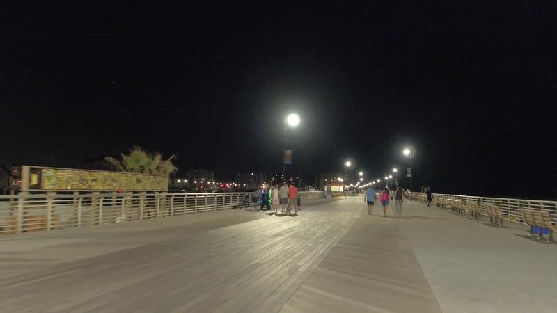 Walking on the boardwalk