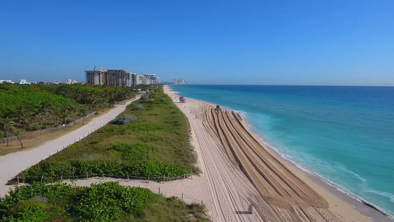 Beautiful aerial video of Miami Beach 4k uhd