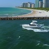 Aerial video Fishing Boat in Miami