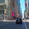 Cyclists point of view riding Broadway NY