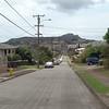Honolulu Hawaii driving through neighborhood