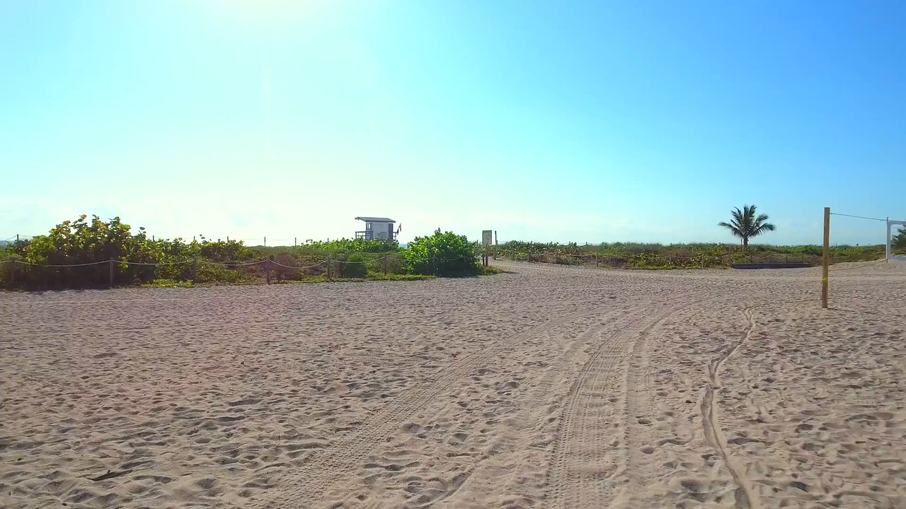 Lifeguard tower drone flyover