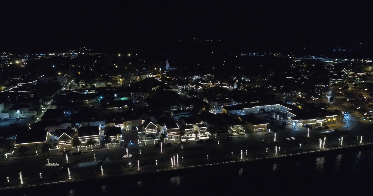 Aerial tour St augustine Florida