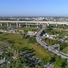 Aerial hyperlapse of a highway interchange