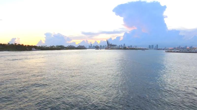 Hyperlapse aerial video Port Miami