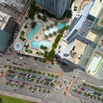 Aerial drone video Vizcayne Downtown Miami 4k
