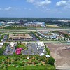 Aerial video Orlando highways and hotels 4k