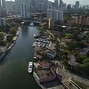 Downtown Miami aerial drone video