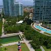 Aerial video Apogee Miami Beach swimming pool 4k 60p