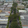 Aerial video Hollywood Boulevard Downtown 4k 60p